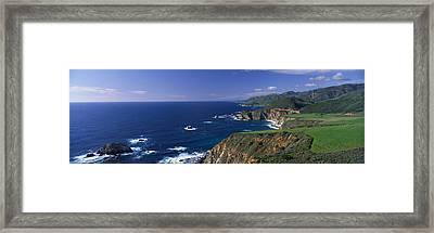 Pacific Coast, Big Sur, California, Usa Framed Print