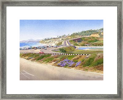 Pacific Coast Hwy Del Mar Framed Print by Mary Helmreich