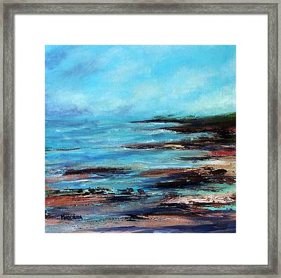 Pacific Coast Northwest Storm Framed Print by Marti Green