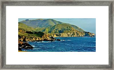 Pacific Coast Panorama Framed Print by Benjamin Yeager