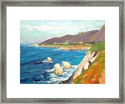 Pacific Coast Framed Print by Raymond Kaler