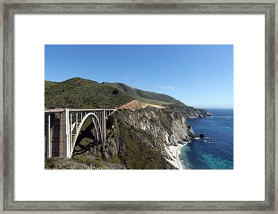 Pacific Coast Scenic Highway Bixby Bridge Framed Print