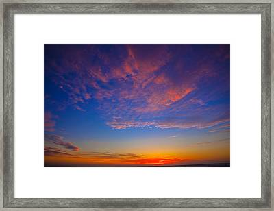 Pacific Coast Sunset Framed Print by Garry Gay