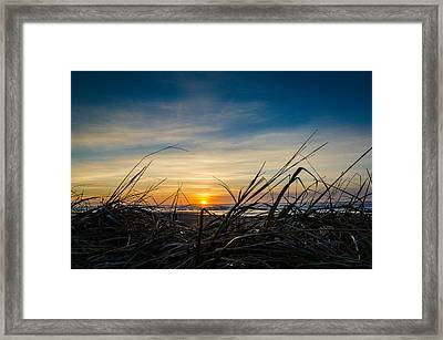 Pacific Coast Sunset Framed Print by Puget  Exposure