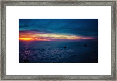 Pacific Coast Sunset Framed Print