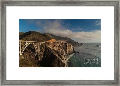 Pacific Coastal Highway Framed Print by Mike Reid
