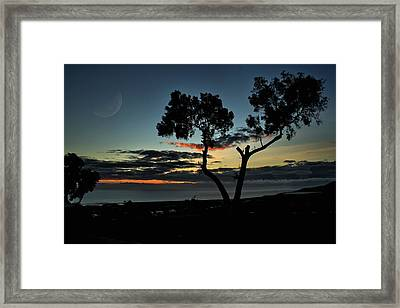 Framed Print featuring the photograph Pacific Evening by Michael Gordon
