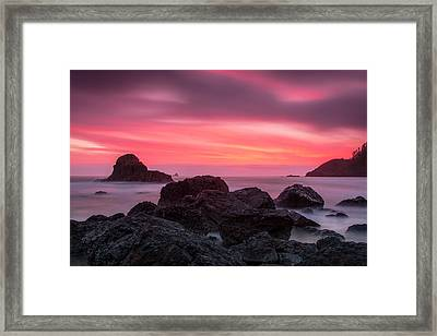 Pacific Glory Framed Print by Sara Hudock