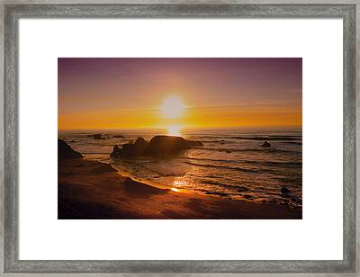 Pacific Gold Framed Print