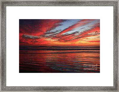 Framed Print featuring the photograph Oceanside Reflections by John F Tsumas