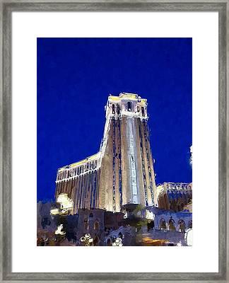 Vegas Venetian Hotel Framed Print by Lin Pacific