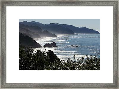 Pacific Mist Framed Print by Karen Wiles