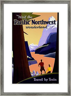 Pacific Northwest By Train Framed Print