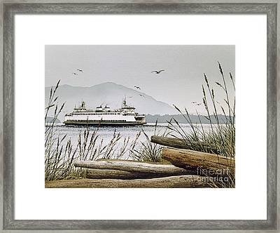Pacific Northwest Ferry Framed Print by James Williamson