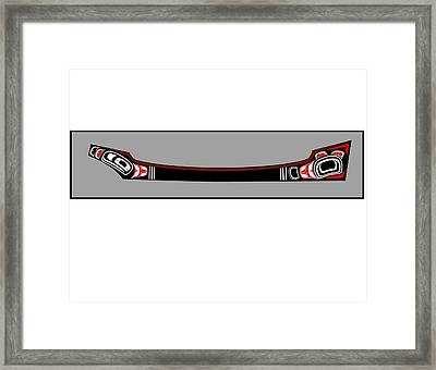 Pacific Northwest Native Canoe Framed Print by Fred Croydon