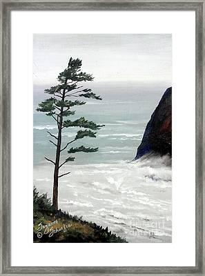 Pacific Northwest Soft Ocean Breezes Framed Print by Suzanne Schaefer