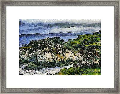 Pacific Ocean Abstract Seascape Framed Print by Barbara Snyder