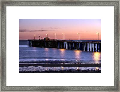 Pacific Ocean At The Pismo Beach Pier  Framed Print