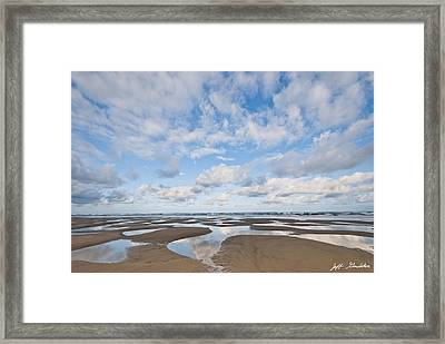 Pacific Ocean Beach At Low Tide Framed Print