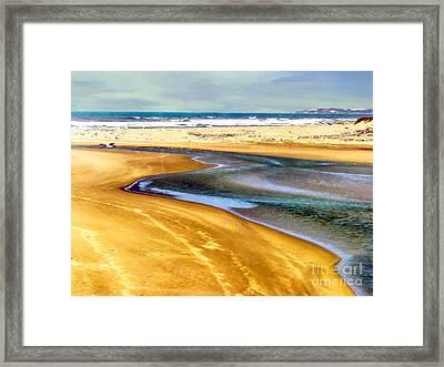 Pacific Ocean Beach Santa Barbara Framed Print