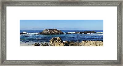 Pacific Ocean Panoramic Framed Print by Kathy Churchman