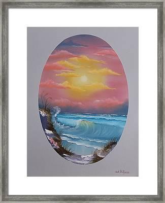 Pacific Ocean Sunset Framed Print
