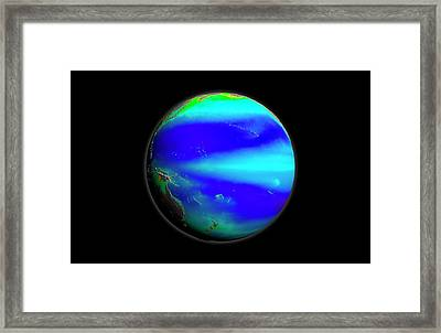 Pacific Phytoplankton Levels Framed Print by Nasa/gsfc-svs/seawifs/geoeye