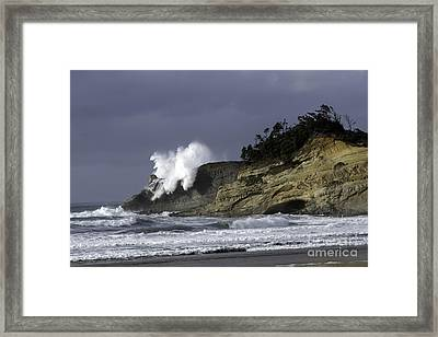 Pacific Power On The Cape Framed Print
