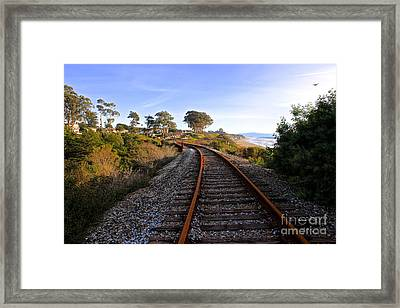Pacific Rail Framed Print by Shannan Peters