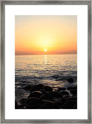 Pacific Sunrise Framed Print by Ashley Balkan