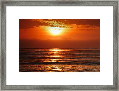 Pacific Sunset @ Point Loma Framed Print