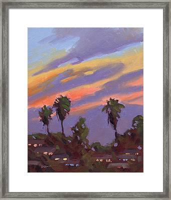 Pacific Sunset 1 Framed Print by Konnie Kim