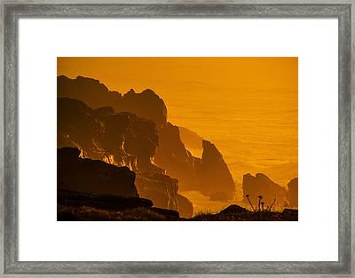 Pacific Sunset 2 Framed Print by Dale Stillman