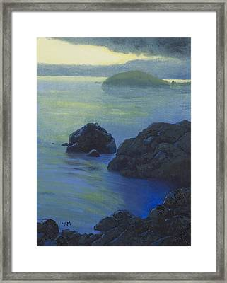 Pacific Sunset Northern California  Framed Print by Garry McMichael
