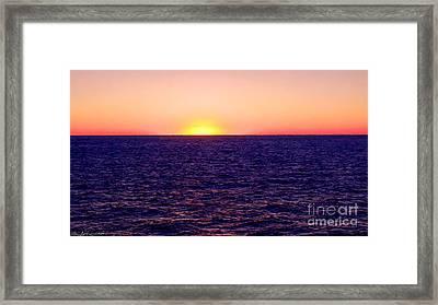 Pacific Sunset Off Laguna Beach Framed Print by Bob and Nadine Johnston