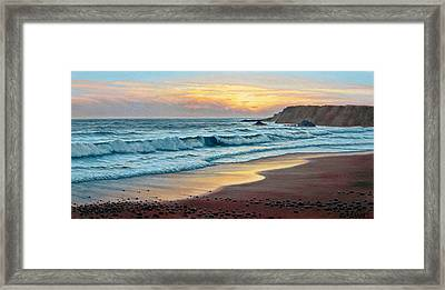 Pacific Sunset Framed Print by Paul Krapf