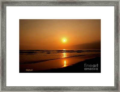 Pacific Sunset Reflection Framed Print by Debby Pueschel
