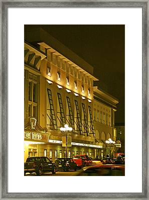 Pacific Theatres In San Diego At Night Framed Print