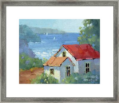 Pacific View Cottage Framed Print