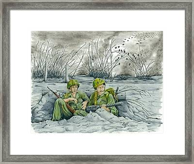 Pacific Wasteland Framed Print by Geoff Hinkley