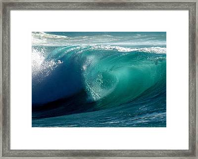 Pacific Wave Framed Print by Lori Seaman