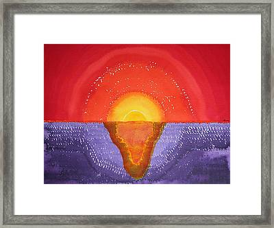 Pacifica Original Painting Framed Print by Sol Luckman