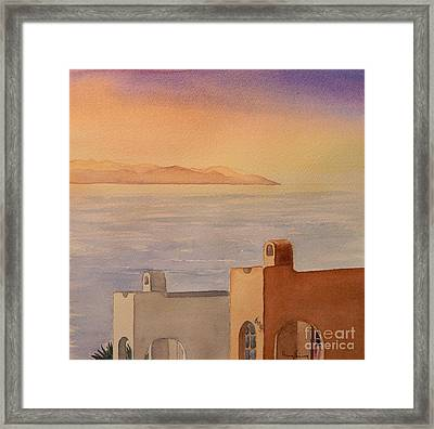 Pacifica Sunset Framed Print