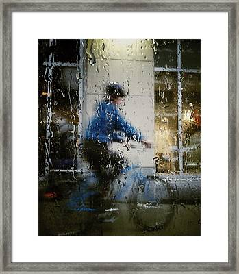 Pacing The Blues Framed Print by Empty Wall