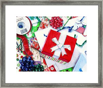 Packages Boxes And Bags Framed Print by Shana Rowe Jackson