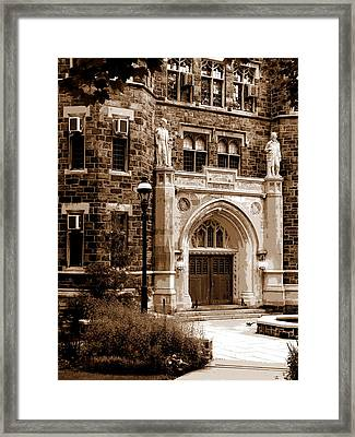 Packard Laboratory Sepia Framed Print by Jacqueline M Lewis