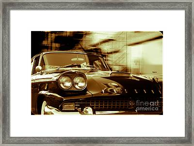 Packard On Sixth Street  Framed Print by Steven Digman