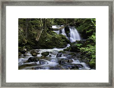 Packer Falls And Creek Framed Print