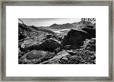 Packers Overlook Monochrome Framed Print by Along The Trail