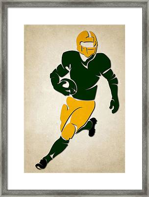 Packers Shadow Player Framed Print by Joe Hamilton